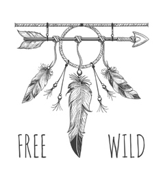 Native american accessory with arrow vector image