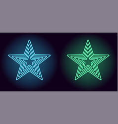 Neon blue and green star vector