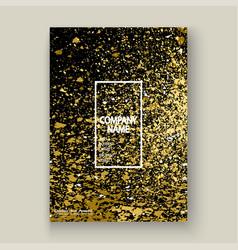 neon gold explosion paint splatter artistic cover vector image