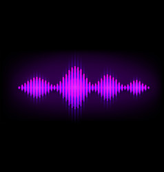 neon wave sound background music soundwave vector image