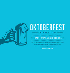 Oktoberfest flyer or banner retro typography vector