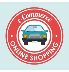 Online car sale design vector