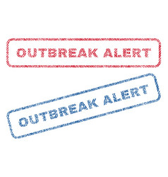 Outbreak alert textile stamps vector