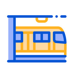 Public transport metro thin line sign icon vector