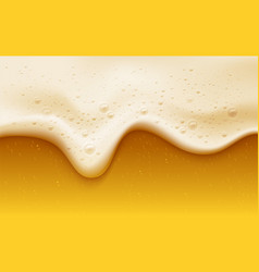 realistic beer foam with bubbles beer glass vector image