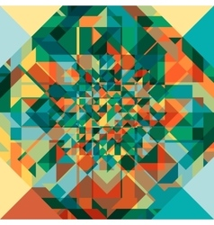 Retro geometric pattern vector image