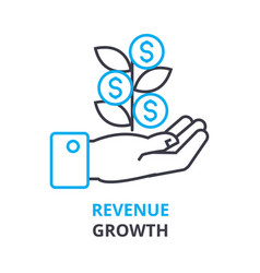 Revenue growth concept outline icon linear sign vector