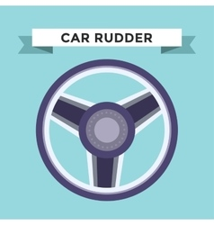 rudder flat icons set vector image