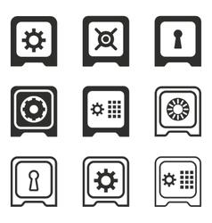 Safe icon set vector