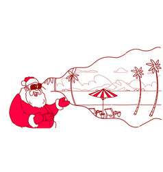 Santa wear digital glasses virtual reality summer vector
