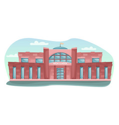 school building in cartoon style vector image