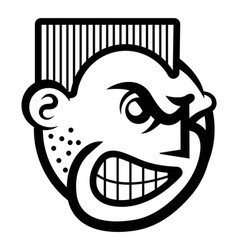 Smiley face icon of angry person vector