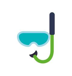 snorkel diving mask vector image