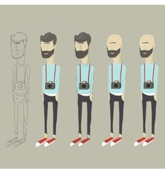 stylized cartoon hipster vector image