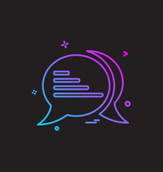 talk sms text icon design vector image