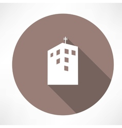 Townhouse icon vector