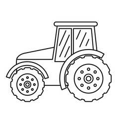tractor icon outline style vector image
