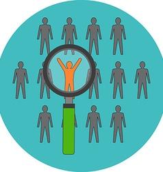 Unique person leadership Flat design Icon in vector image