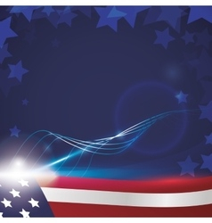 Usa patrotism culture blue red icon vector