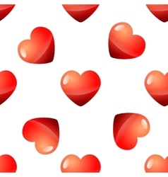 Valentine Day seamless red heart pattern vector image