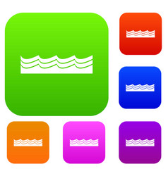 water set color collection vector image