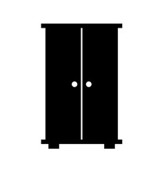 wooden closet isolated icon vector image
