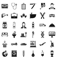 Working icons set simple style vector