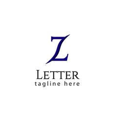 Z letter logo template design vector