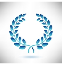 Blue Laurel Wreath vector image vector image