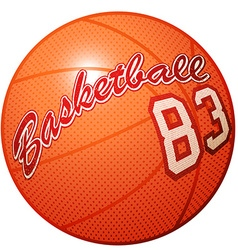 Orange 3D basketball sports equipment with vector image vector image