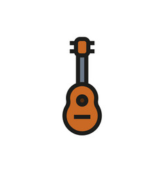 acoustic guitar icon on white background vector image vector image