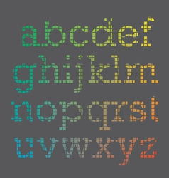 Cubic Font vector image vector image