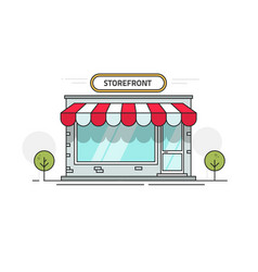 store or shop front view vector image