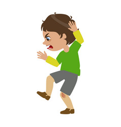 boy shouting and swearing part of bad kids vector image