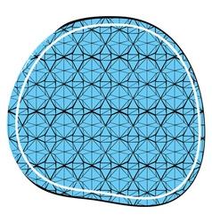 Decorative ornament in a circular composition vector image