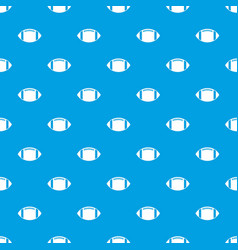 rugby ball pattern seamless blue vector image