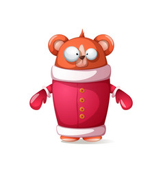 bear - santa claus funny cute vector image
