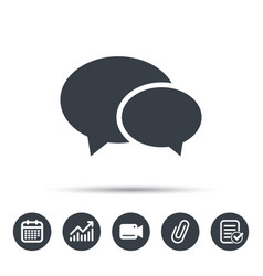 chat icon speech bubble sign vector image vector image