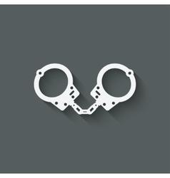 handcuffs punishment symbol vector image