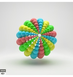 3d Abstract Spheres Composition Technology Style vector image
