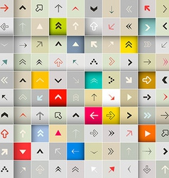 Abstract Arrows in Squares Seamless Background vector image