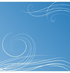 Abstract blue background with some swirls vector image