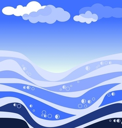 abstract sea and blue sky vector image