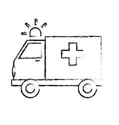 ambulance with siren icon image vector image