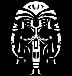 ancient ethnic skull vector image