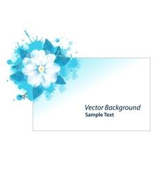 Blue grunge card vector image