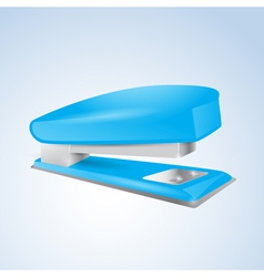 Blue stapler vector image