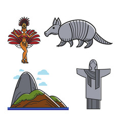 brazilian traditional symbols vector image