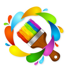 brush and paint vector image
