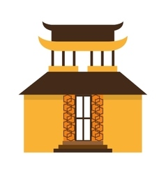 Building culture japanese icon vector